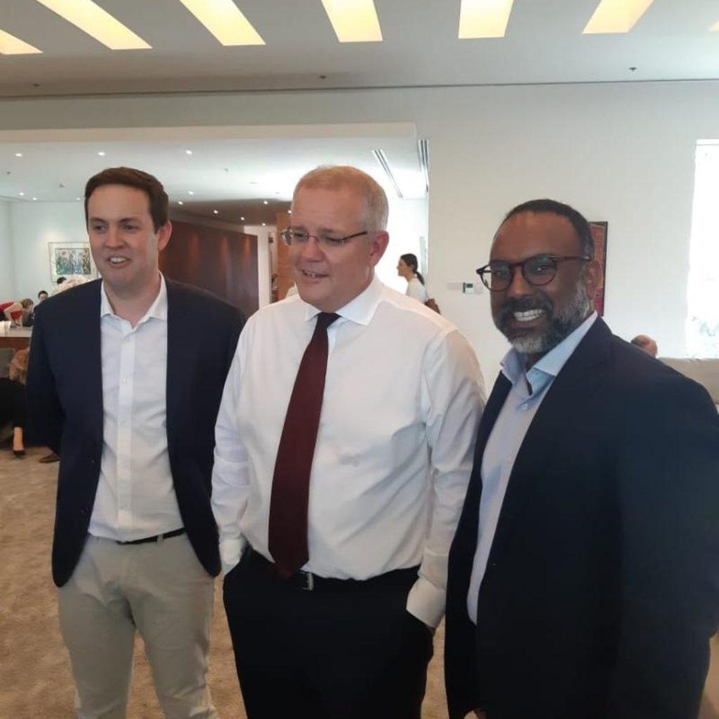 Kannan meets Australian Prime Minister, Scott Morrison
