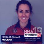 Congratulations, Kara McDonald. Apprentice of the Year
